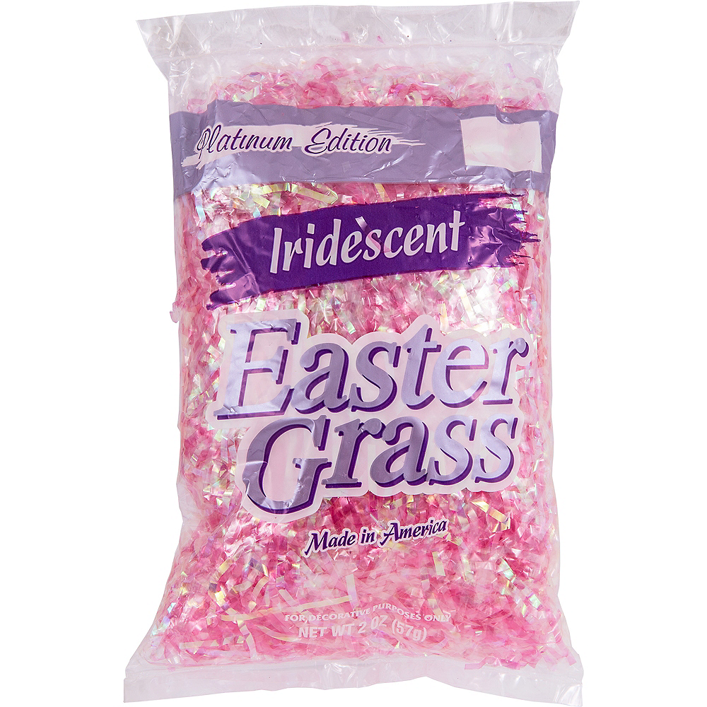 Iridescent Pink Plastic Easter Grass Image #2