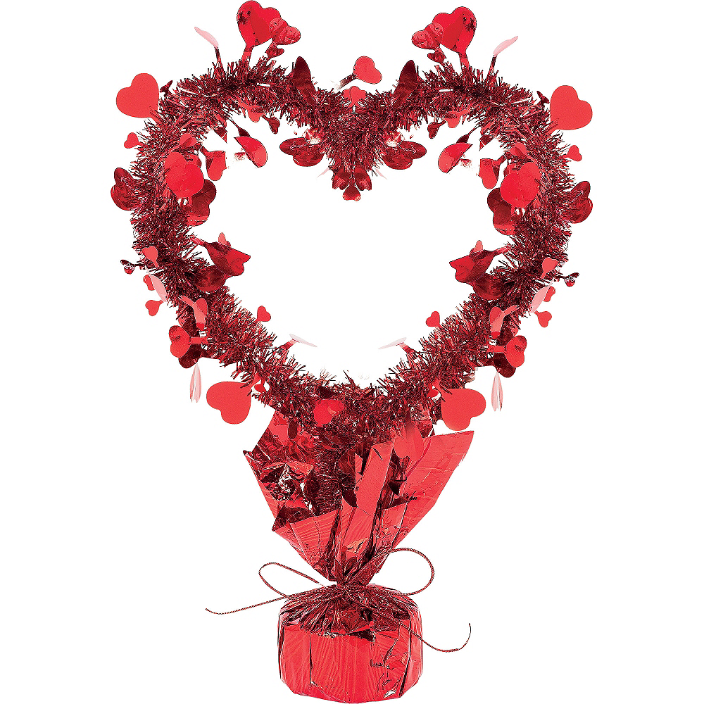 Tinsel Heart Centerpiece Image #1
