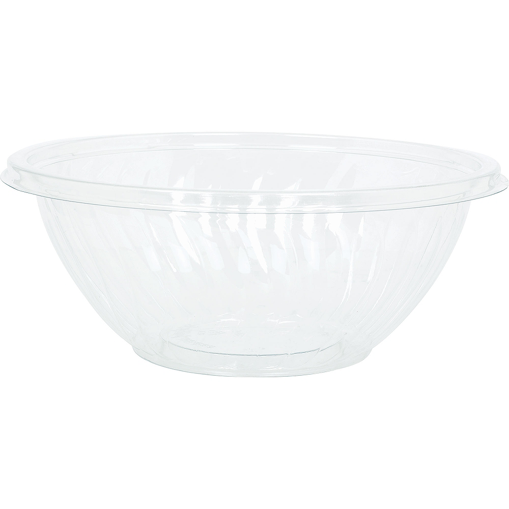 CLEAR Plastic Wavy Bowl Image #1