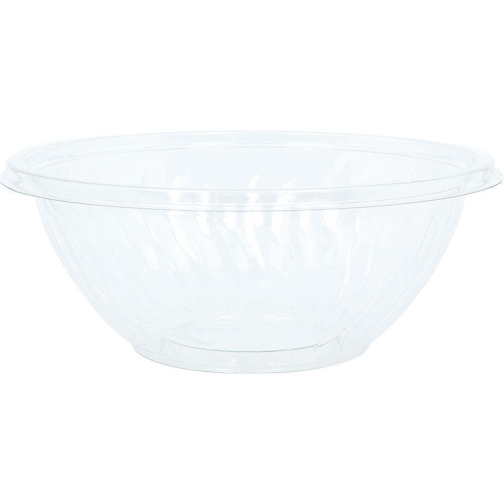 Nav Item for CLEAR Plastic Wavy Bowl Image #1