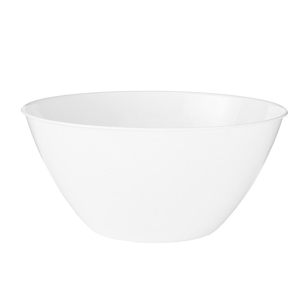 Medium White Plastic Bowl Image #1