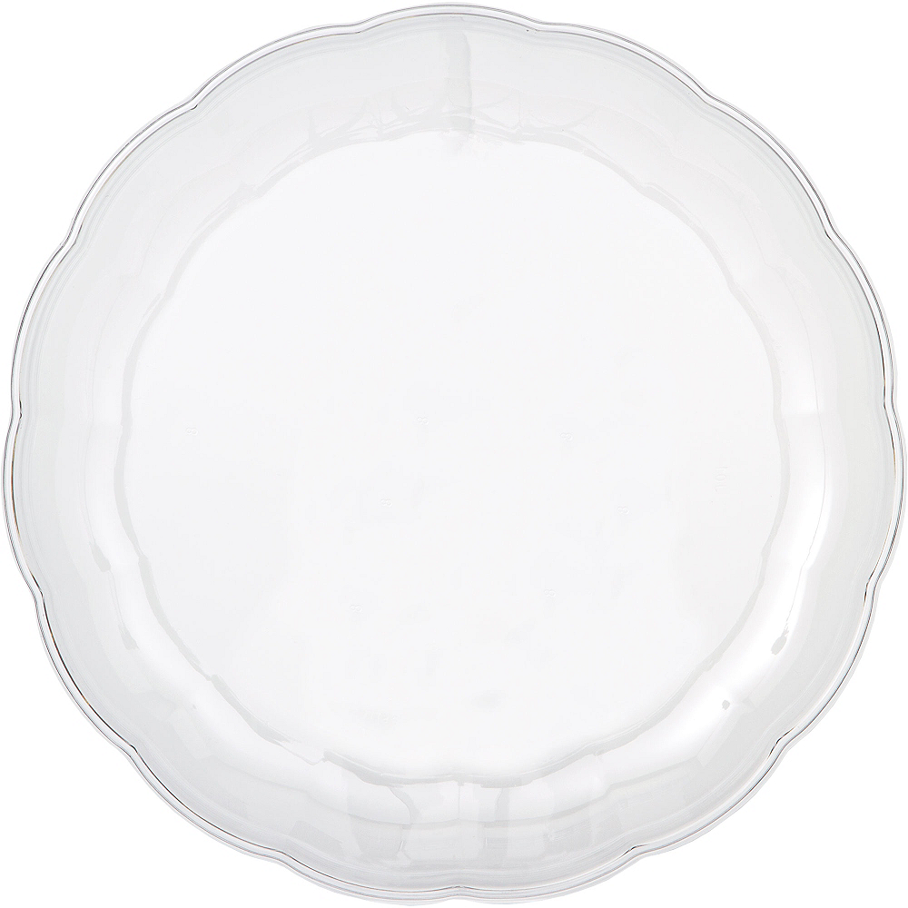 CLEAR Plastic Scalloped Platter Image #1