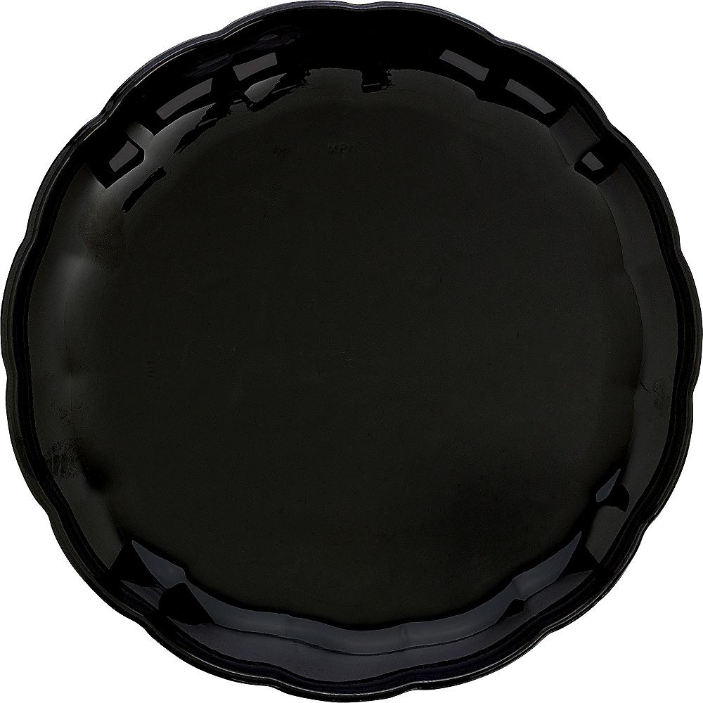 Black Plastic Scalloped Platter Image #1