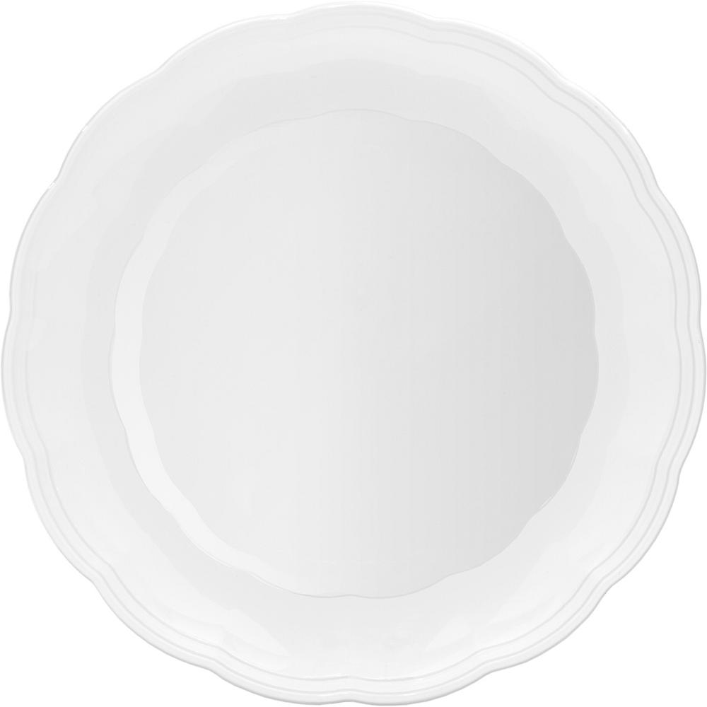 White Plastic Scalloped Platter Image #1