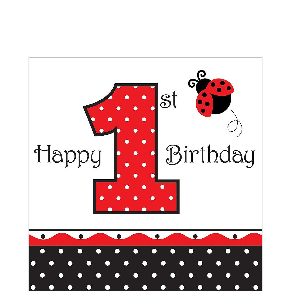 1st Birthday Fancy Ladybug Lunch Napkins 16ct Image #1