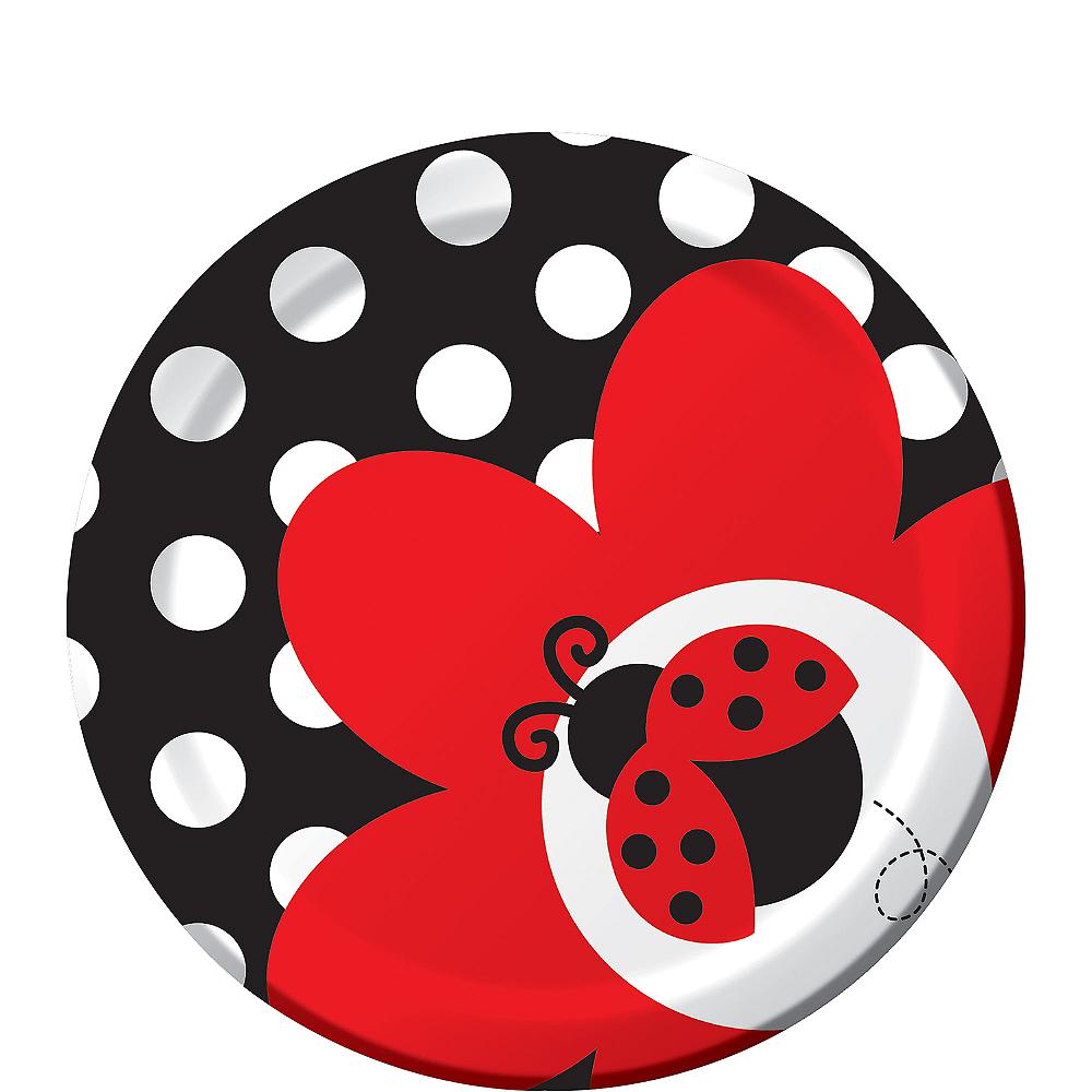 Fancy Ladybug Dessert Plates 8ct Image #1