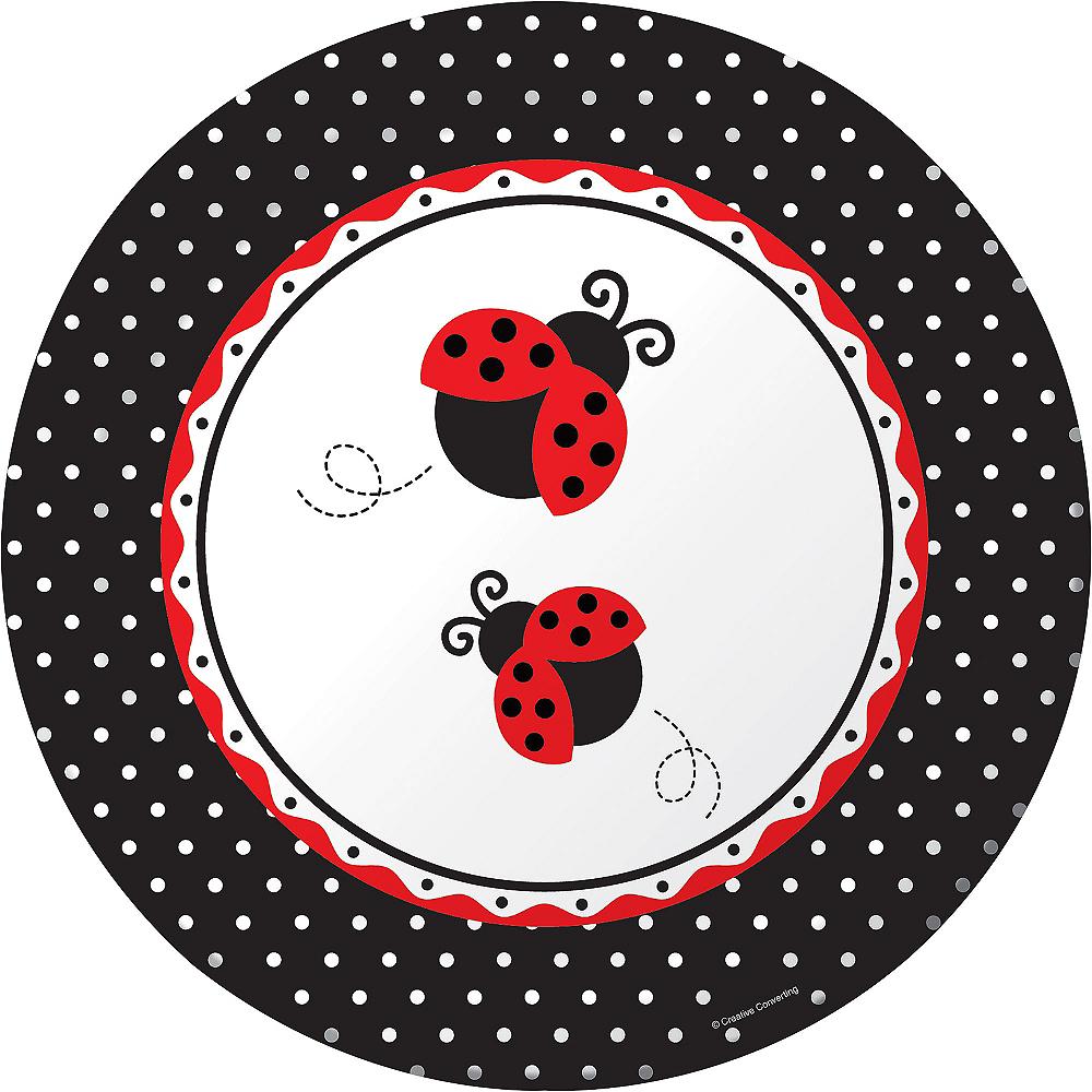 Fancy Ladybug Lunch Plates 8ct Image #1