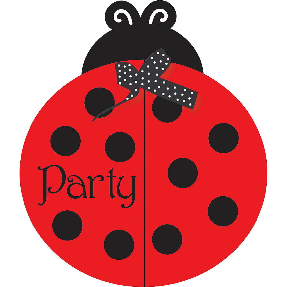 Fancy Ladybug Invitations 8ct Image #1