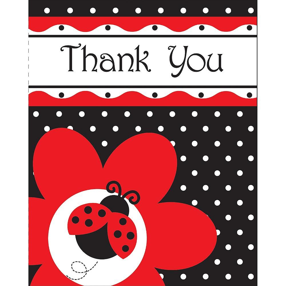 Fancy Ladybug Thank You Notes 8ct Image #1
