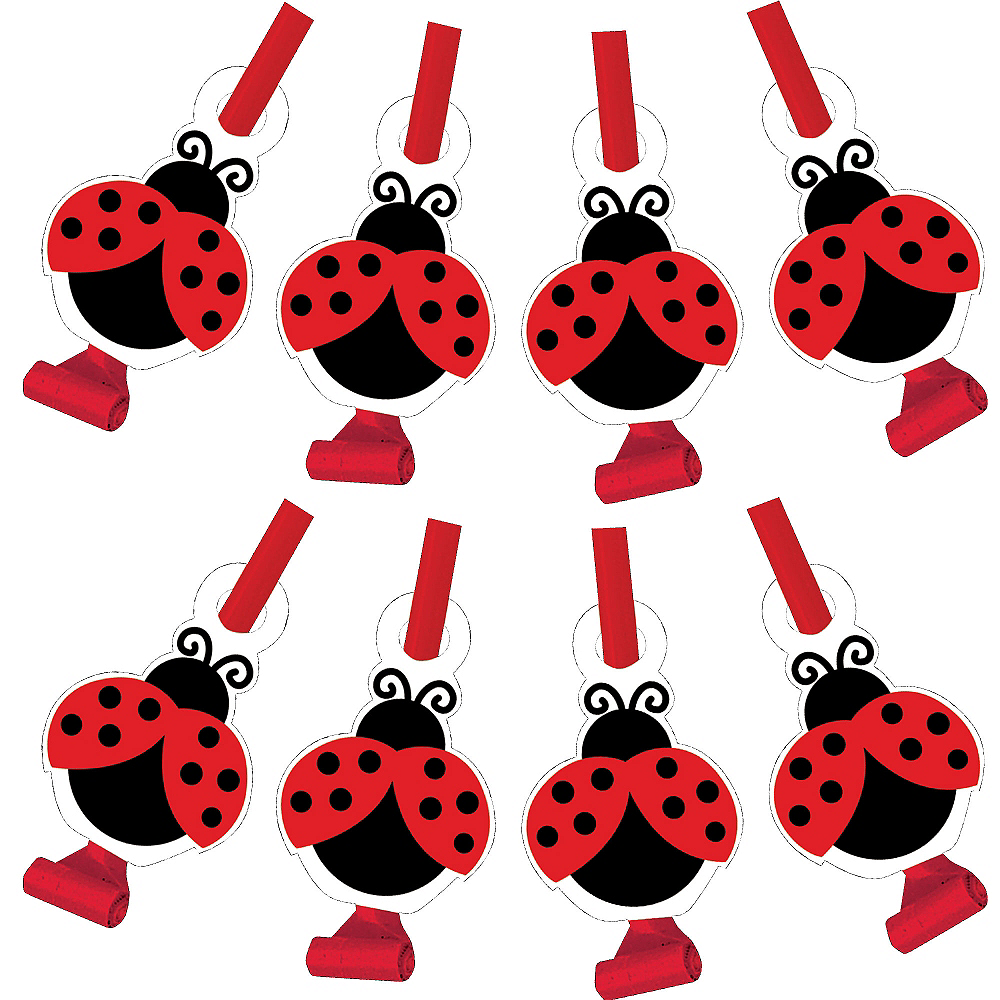 Fancy Ladybug Blowouts 8ct Image #1