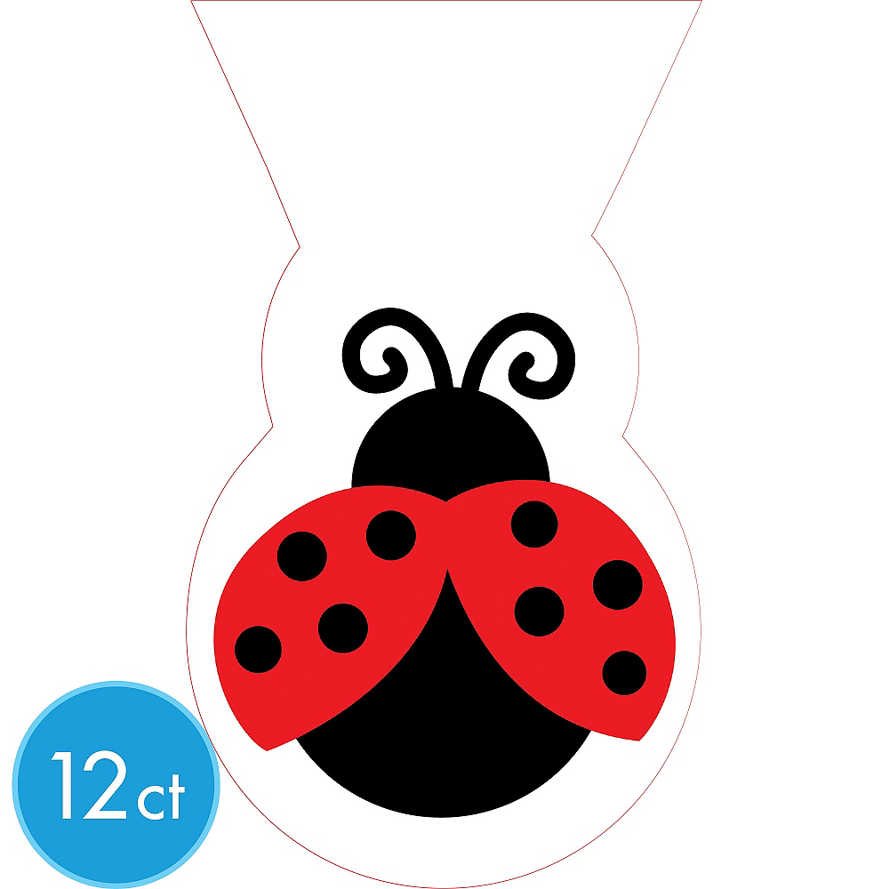 Fancy Ladybug Treat Bags 12ct Image #1