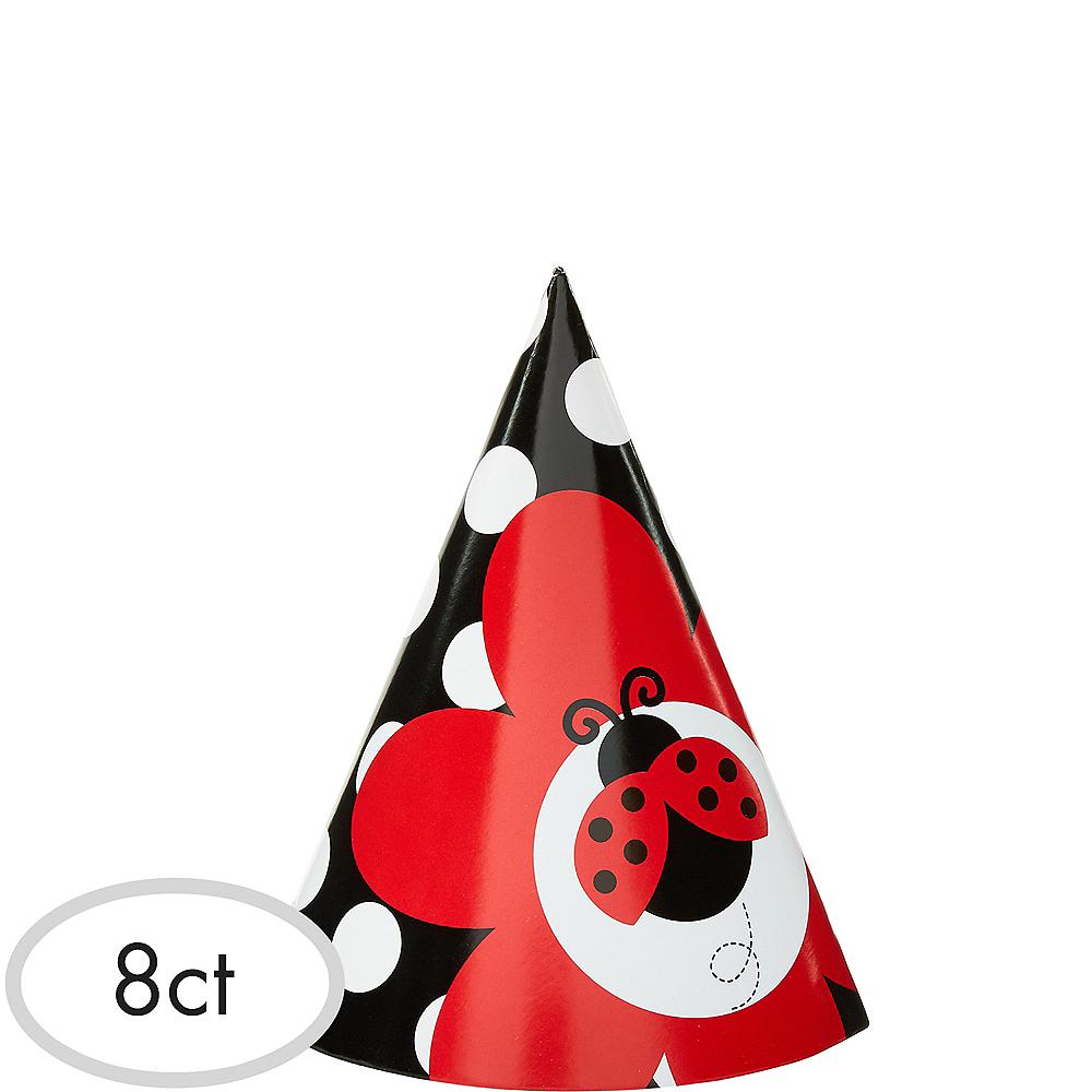 Fancy Ladybug Party Hats 8ct Image #1
