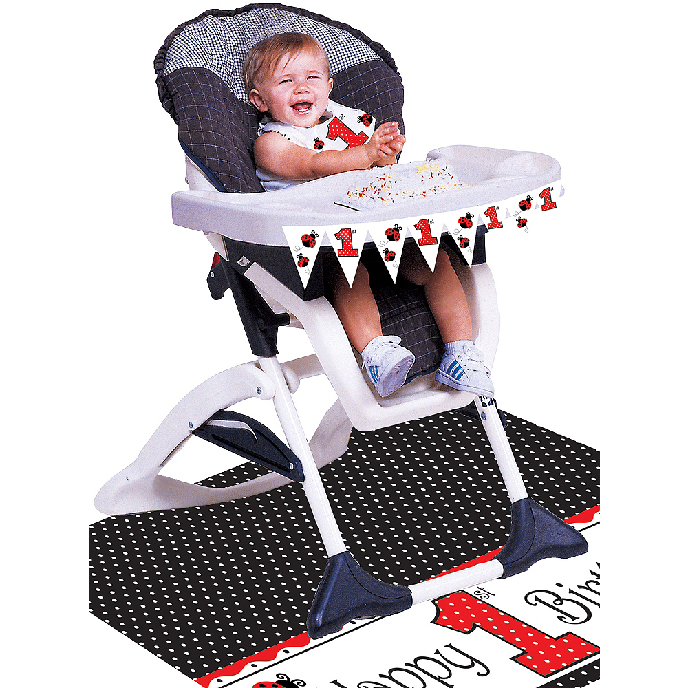 Fancy Ladybug 1st Birthday High Chair Decorating Kit 3pc Image #1