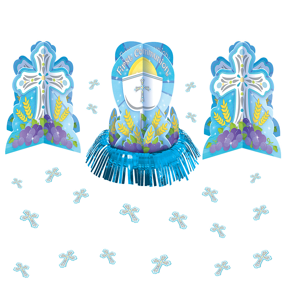 Boy's Communion Table Decorating Kit 23pc Image #1