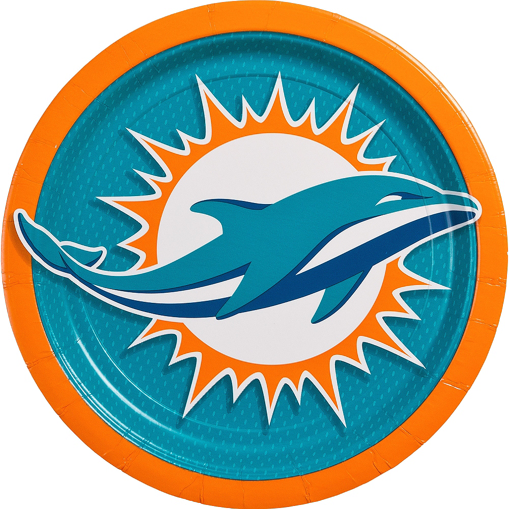 Miami Dolphins Lunch Plates 18ct Image #1