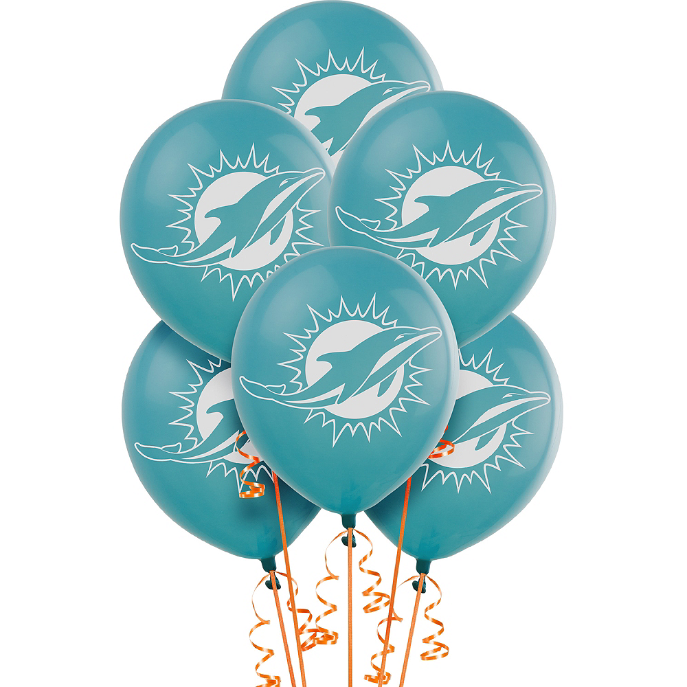 Miami Dolphins Balloons 6ct Image #1