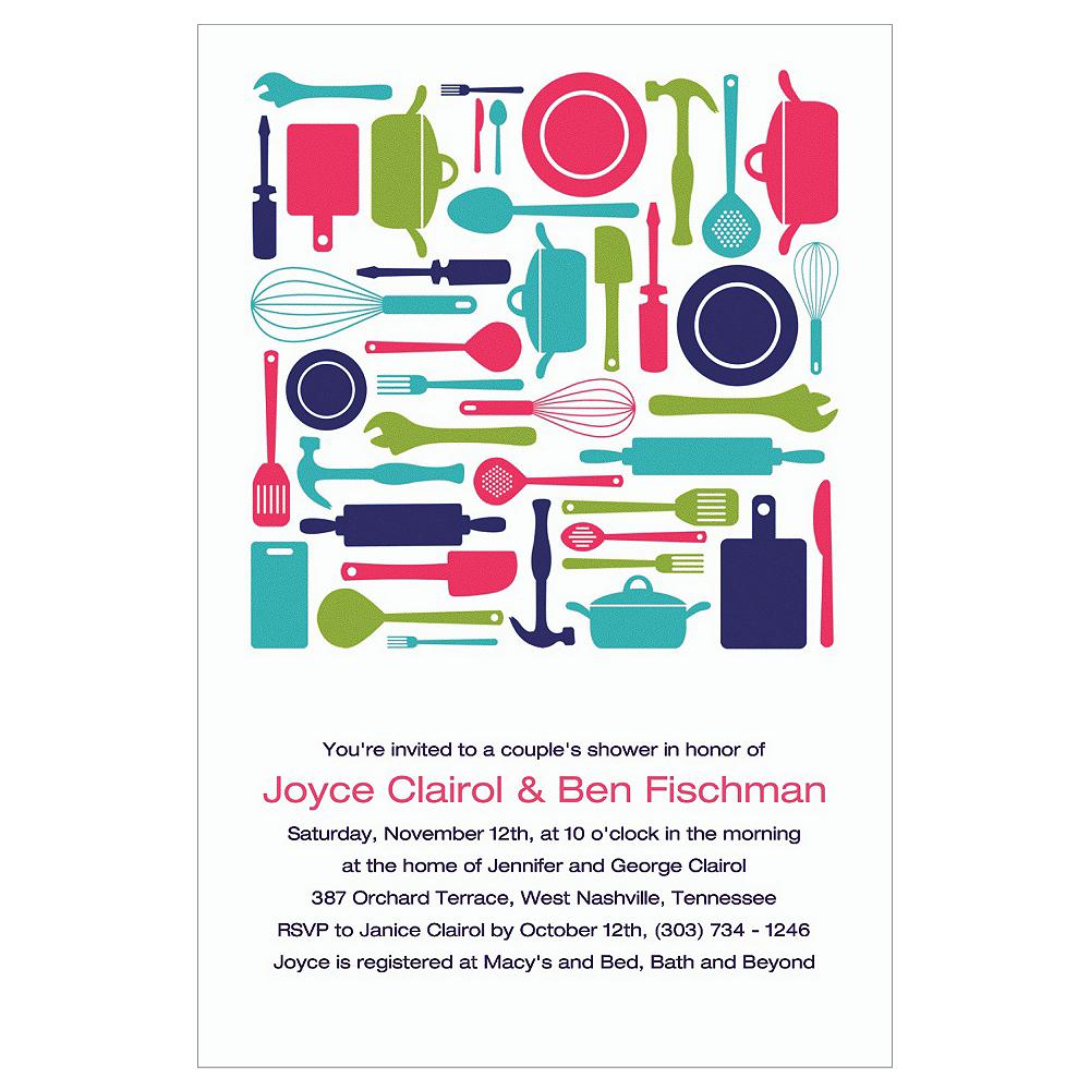 Custom Kitchen Utensils Bridal Shower Invitations Image #1
