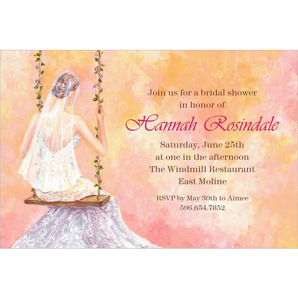 custom bridal swing bridal shower invitations