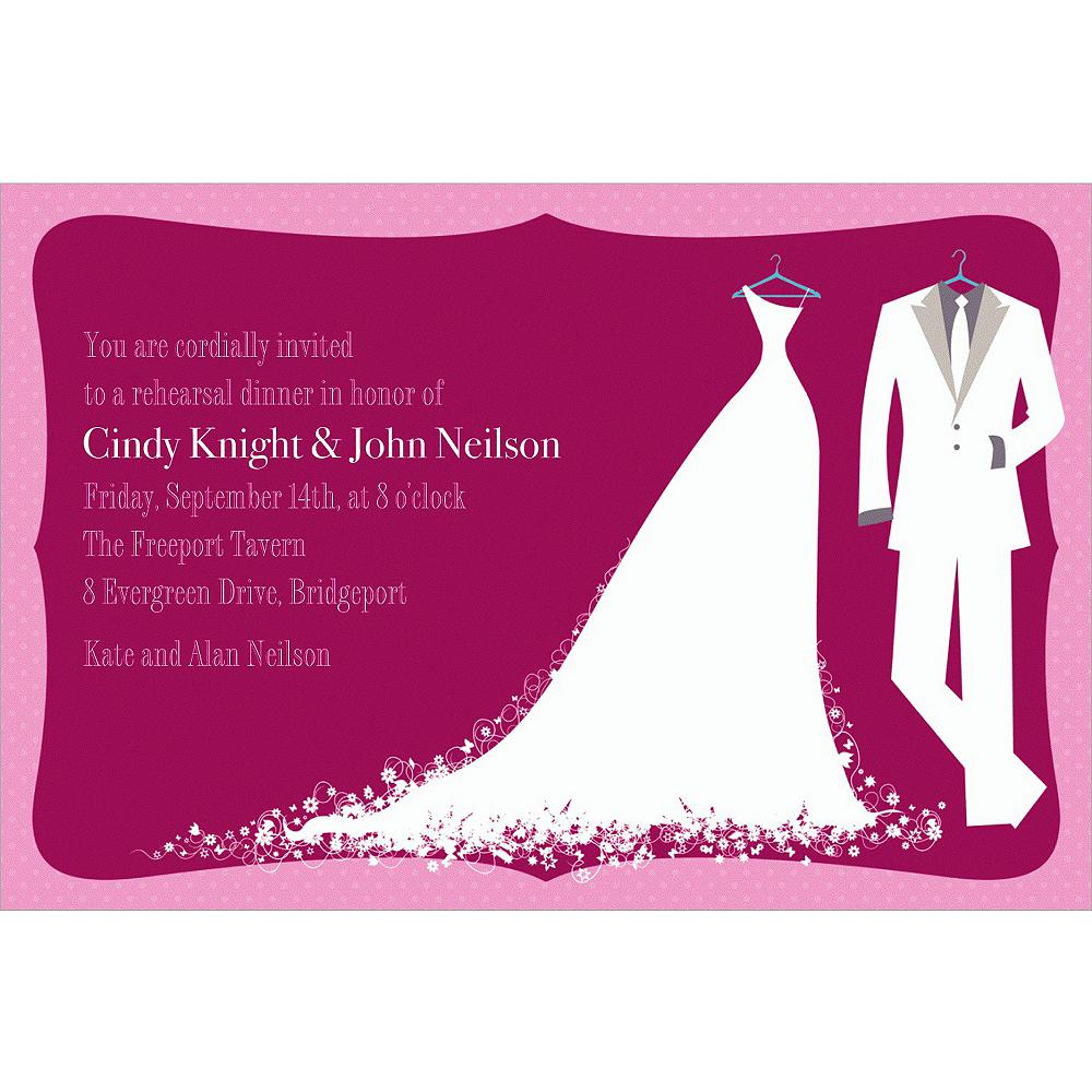 Custom White Bride & Groom Wedding Invitations Image #1