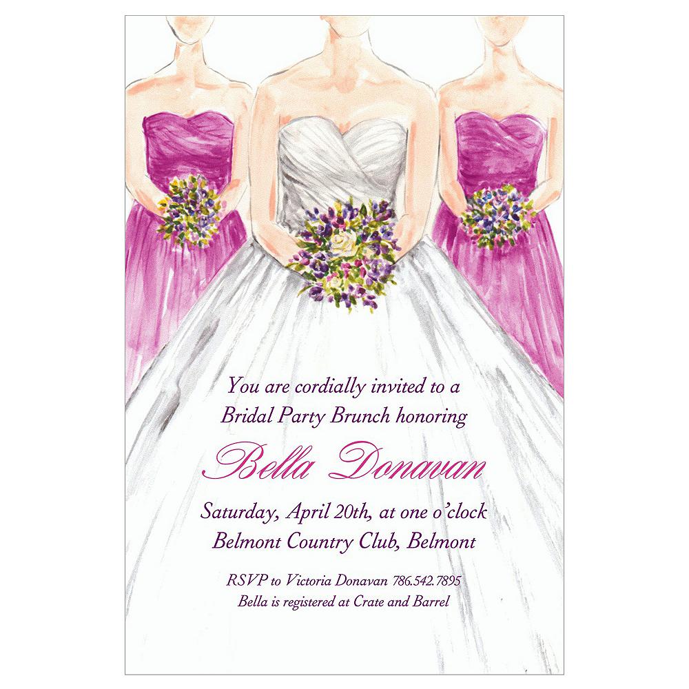 Custom Bridesmaids Bridal Shower Invitations | Party City
