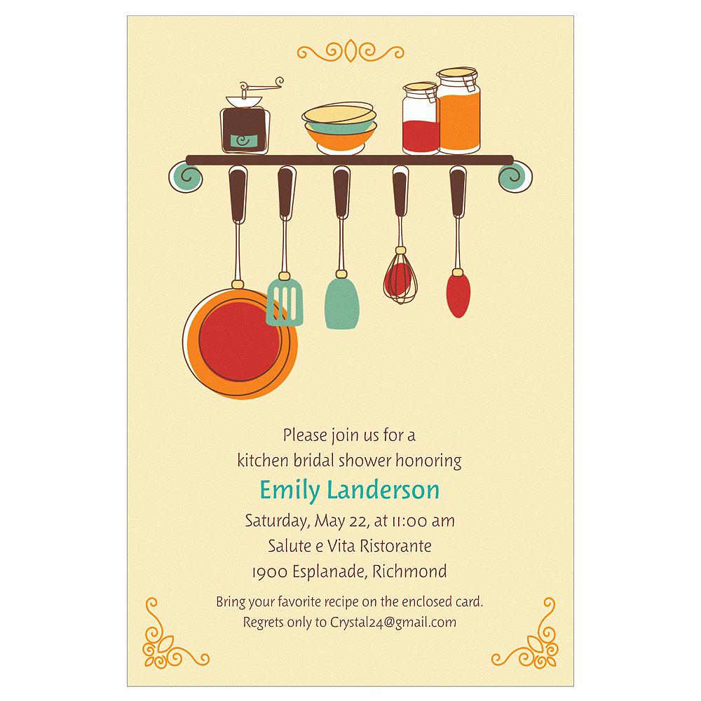 Custom Kitchen Shower Bridal Shower Invitations Image #1