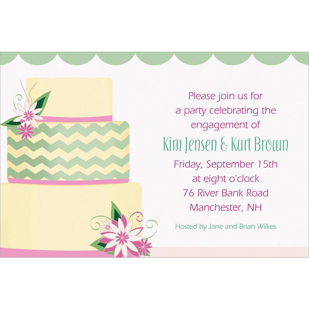 Custom Modern Wedding Cake Wedding Invitations Image #1