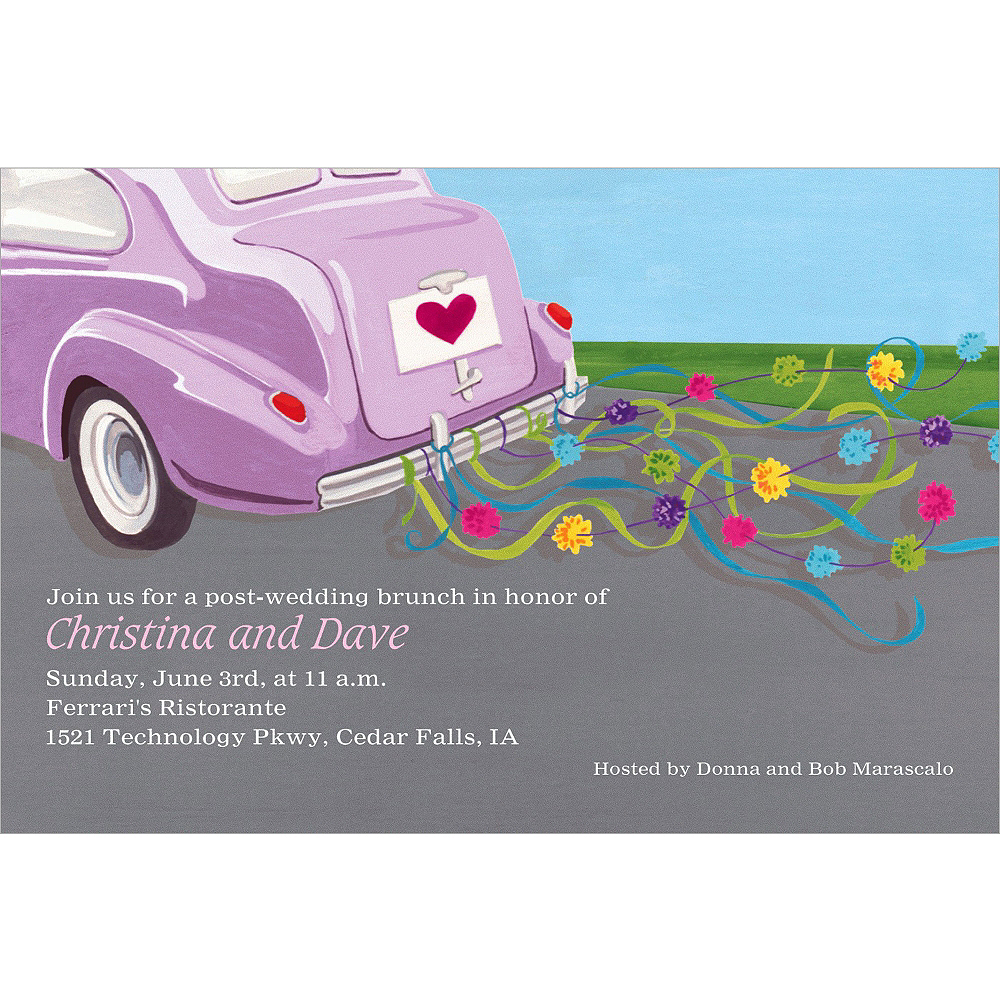 Custom Just Wed Buggy Wedding Invitations Image #1
