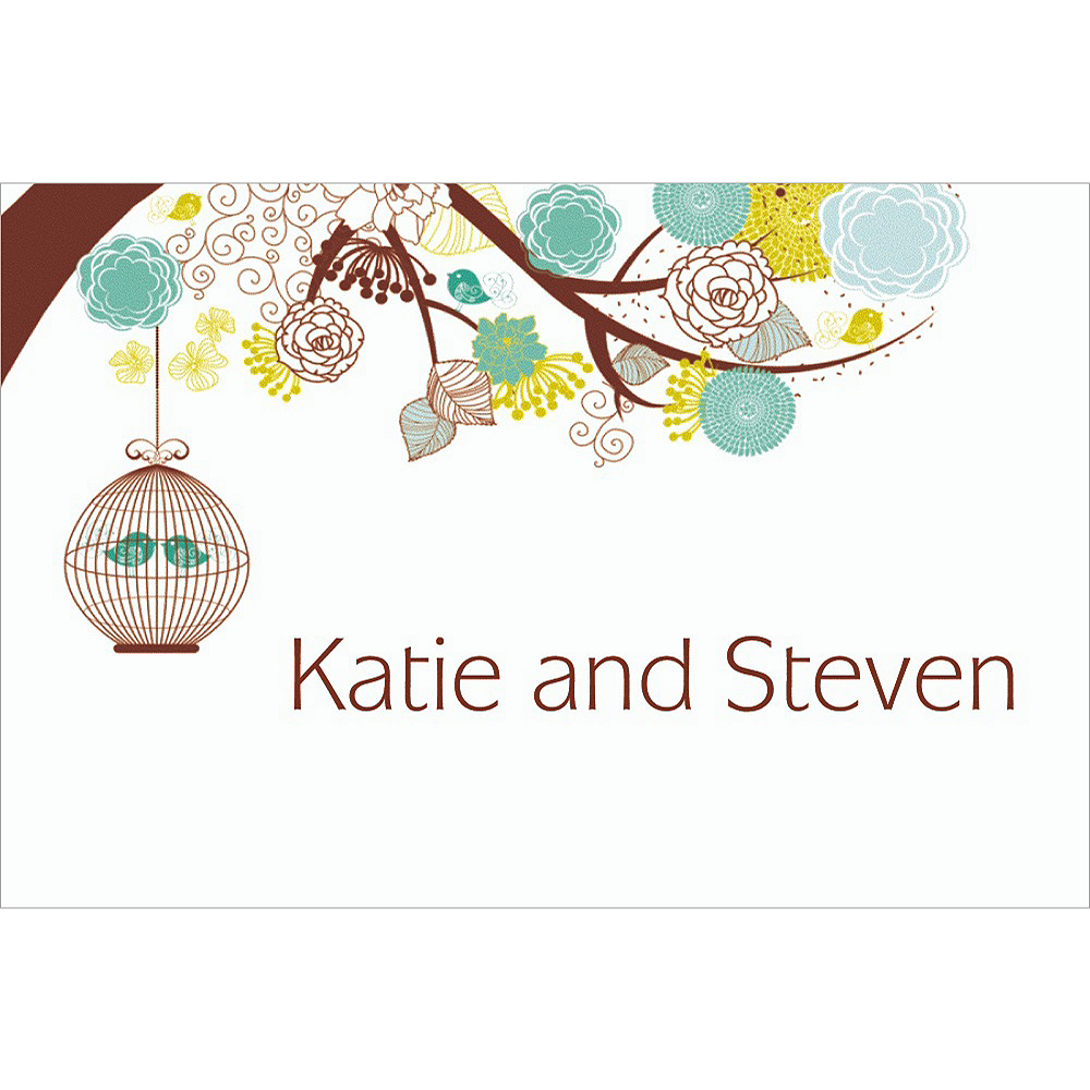 Custom Lovebird Cages Bridal Shower Thank You Notes Image #1
