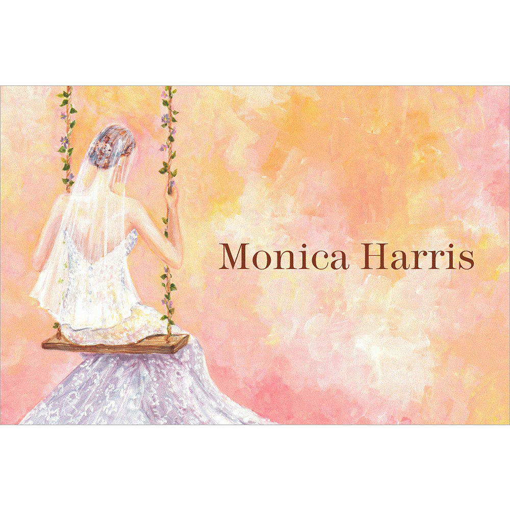 Custom Bridal Swing Bridal Shower Thank You Notes Image #1