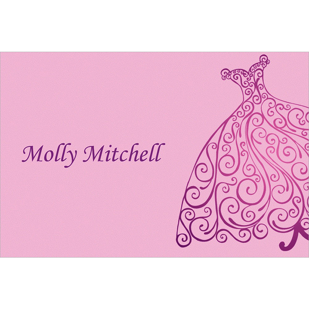 Custom Quilled Bridal Gown Bridal Shower Thank You Notes Image #1