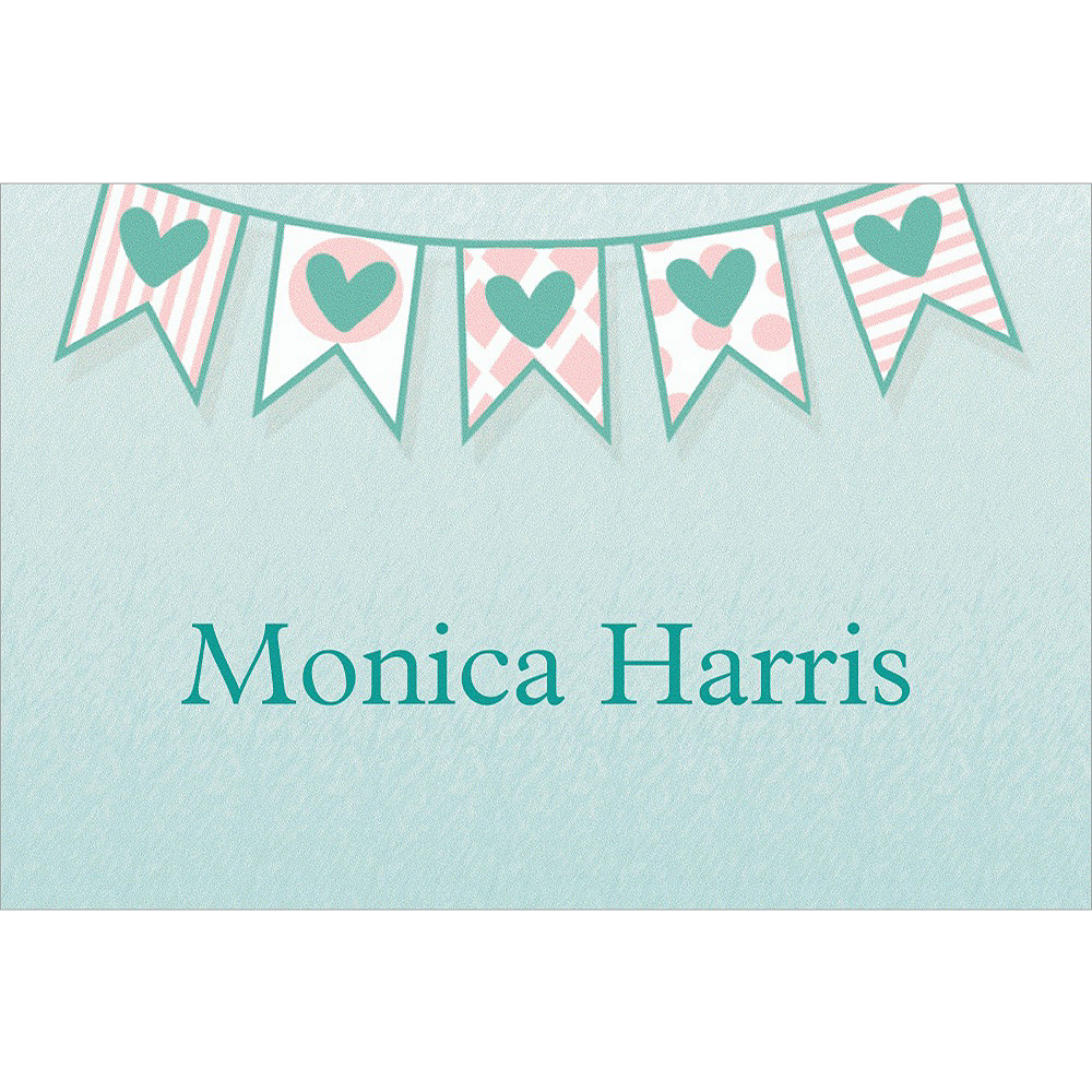 Custom Bride to Be Flags Bridal Shower Thank You Notes Image #1