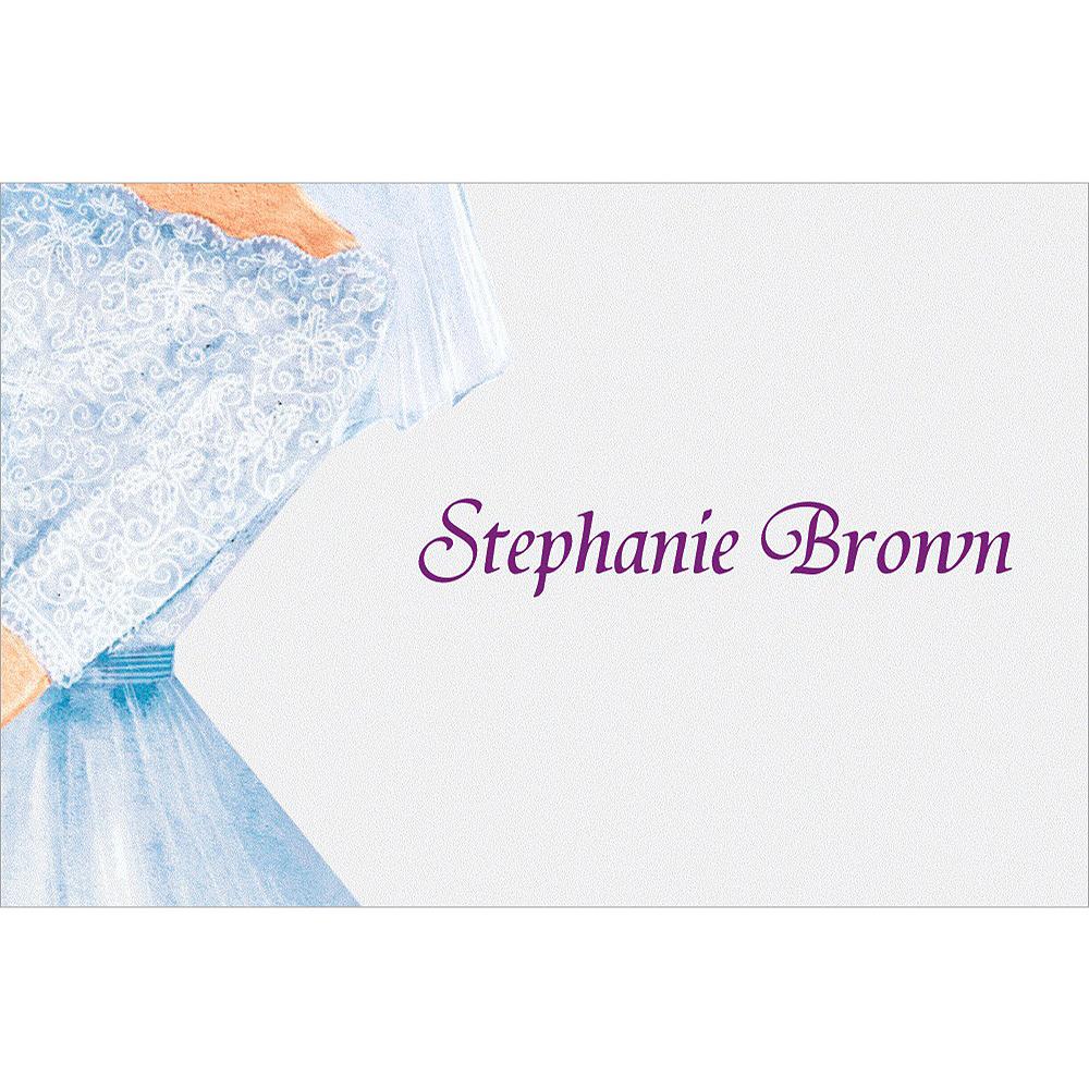 Custom Watercolor Bride Bridal Shower Thank You Notes Image #1