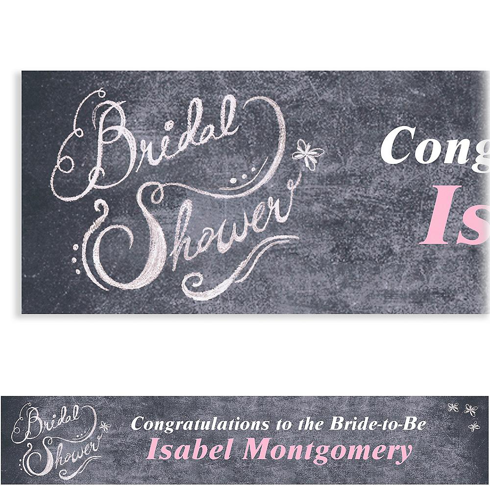 Custom Chalkboard Bridal Shower Banner 6ft Image #1