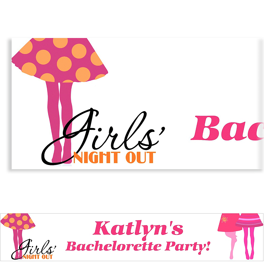 Custom Girls Night Out Banner 6ft Image #1