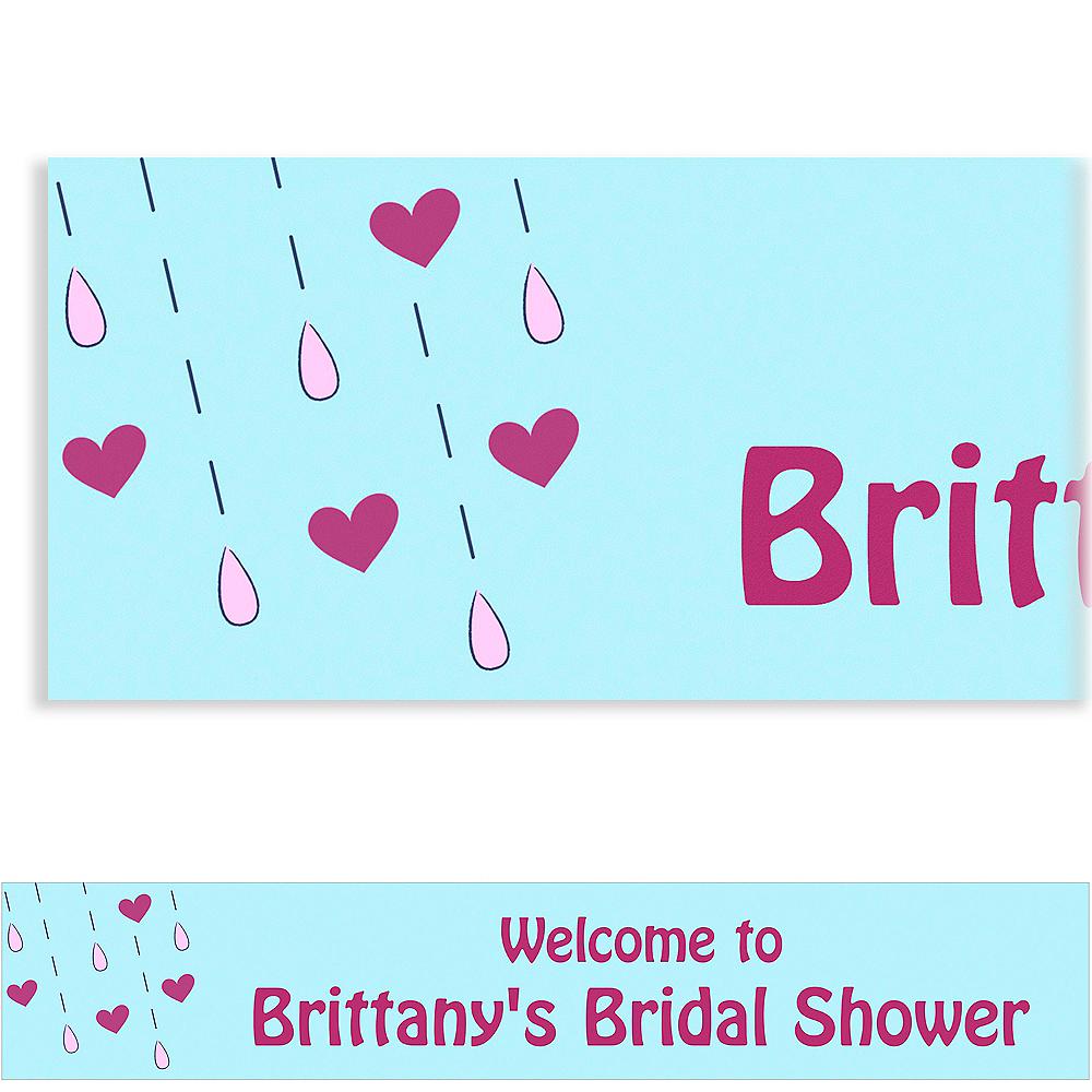 Custom It's Raining Love Bridal Shower Banner 6ft Image #1