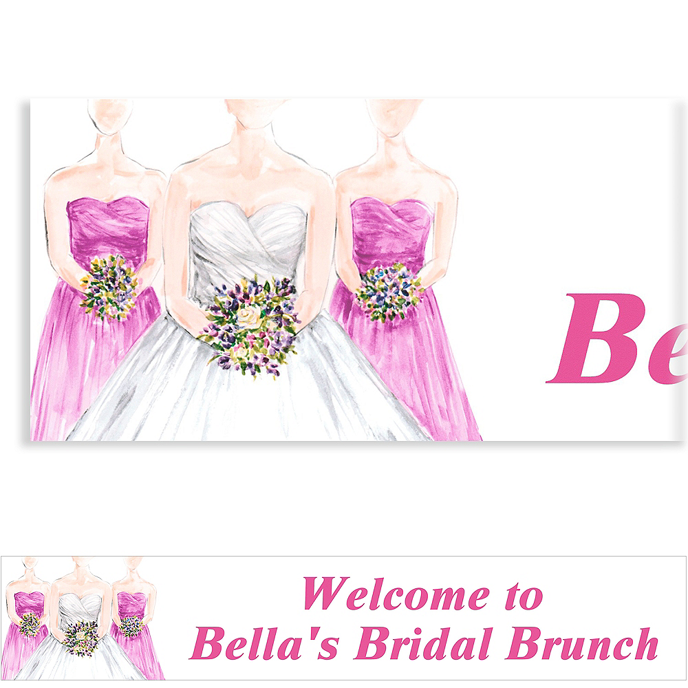 Custom Bridesmaids Bridal Shower Banner 6ft Image #1