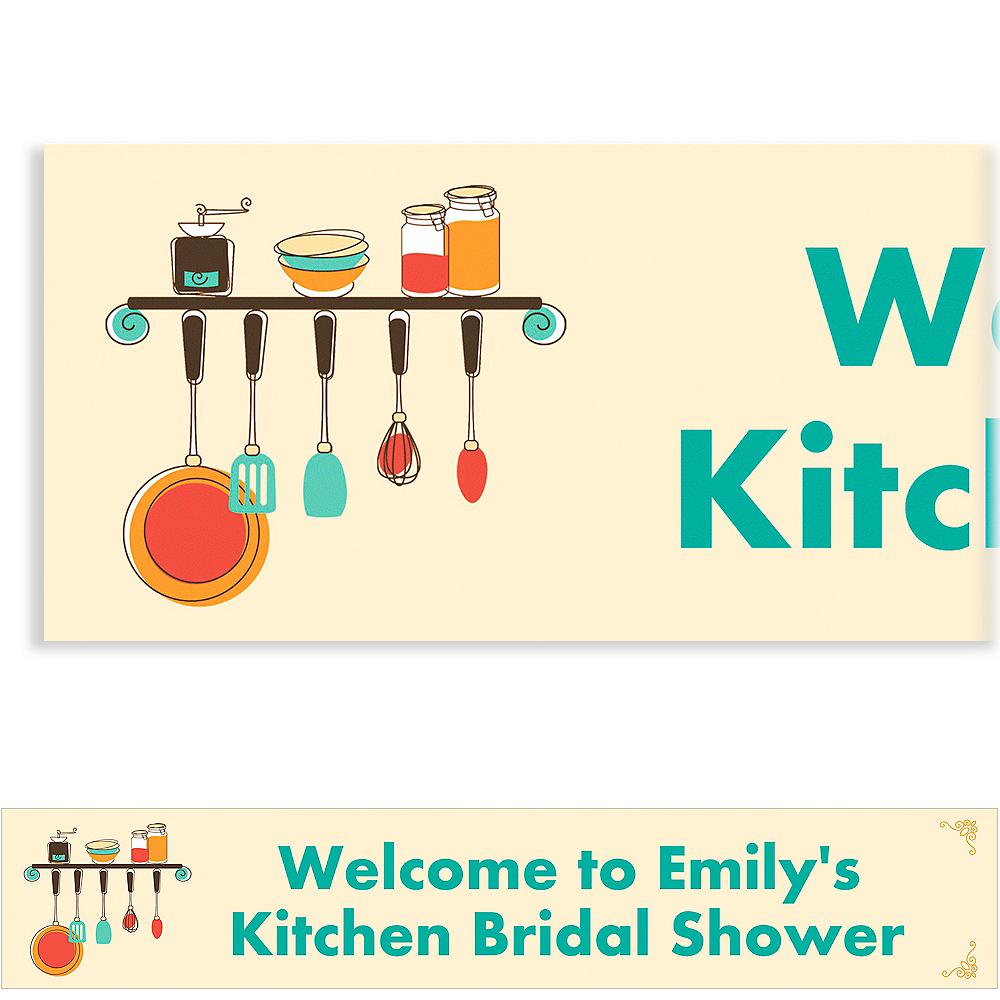 Custom Kitchen Shower Bridal Shower Banner 6ft Image #1