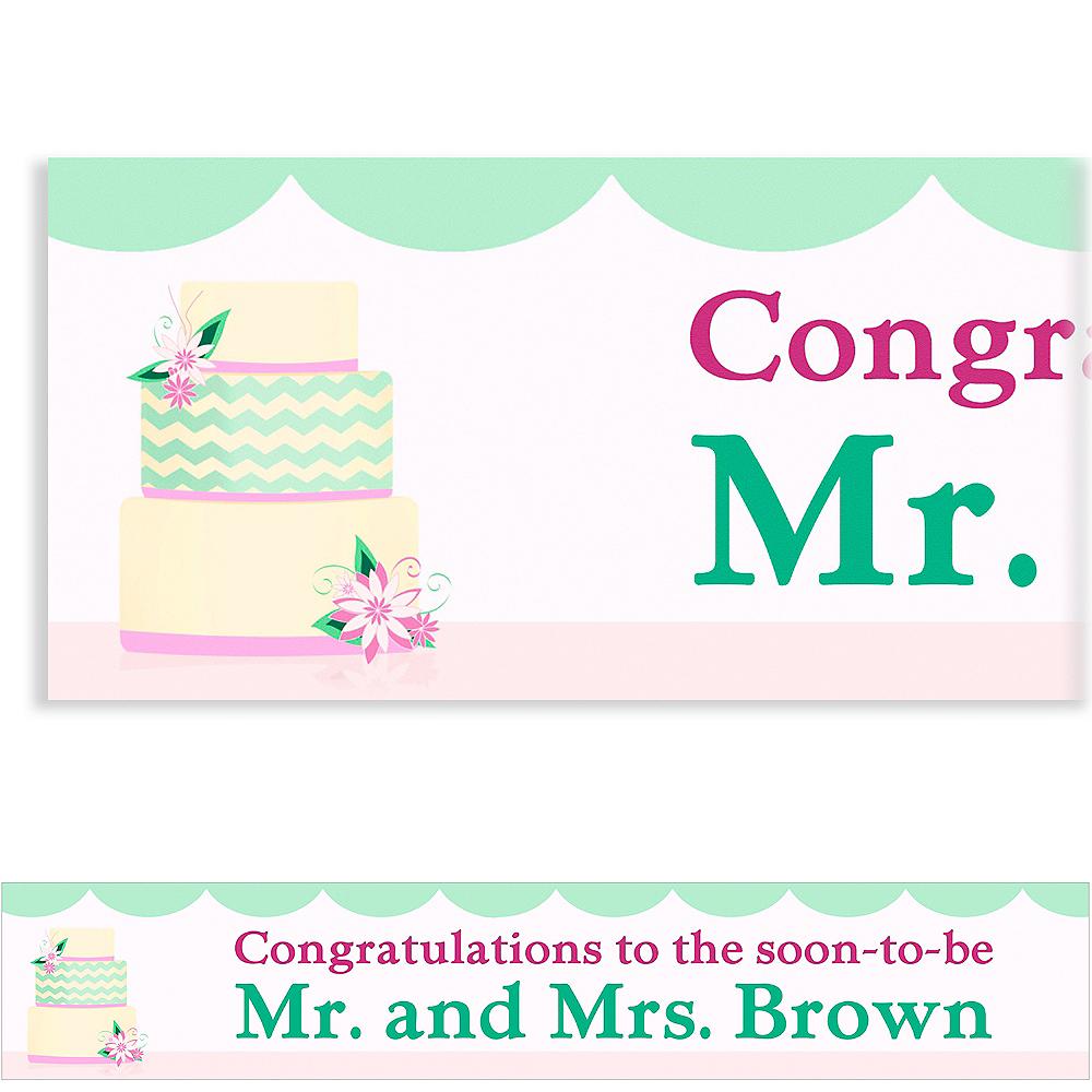 Custom Modern Wedding Cake Wedding Banner 6ft Image #1