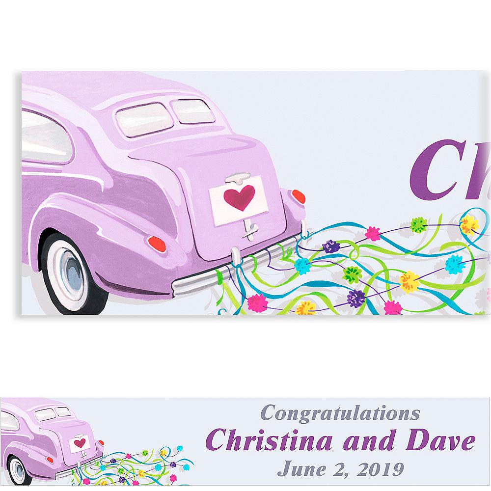 Custom Just Wed Buggy Wedding Banner 6ft Image #1