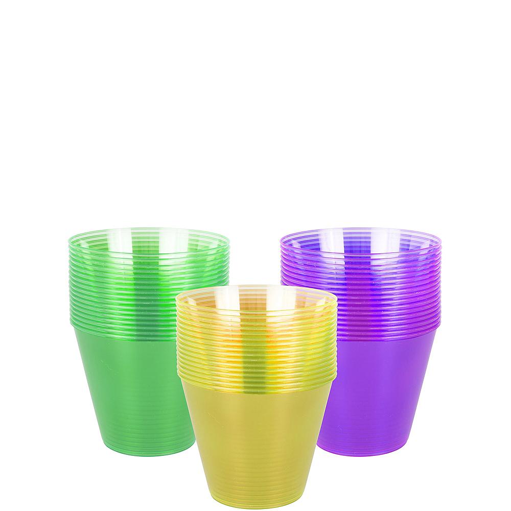 Mardi Gras Plastic Cups 50ct Image #1