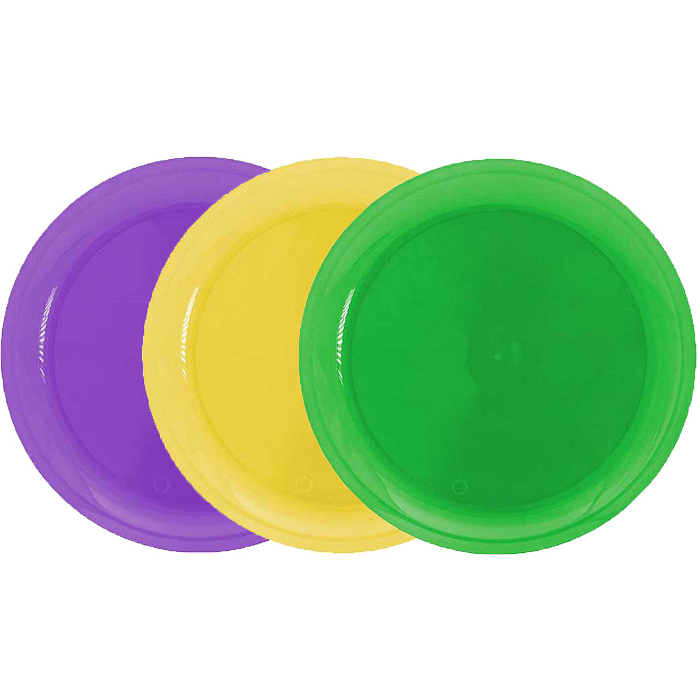 Nav Item for Mardi Gras Plastic Lunch Plates 20ct Image #1