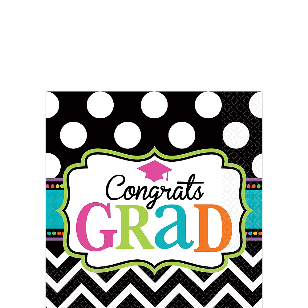 Dream Big Graduation Beverage Napkins 125ct Image #1