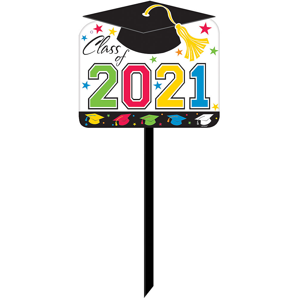 Rainbow Graduation Yard Sign Image #1