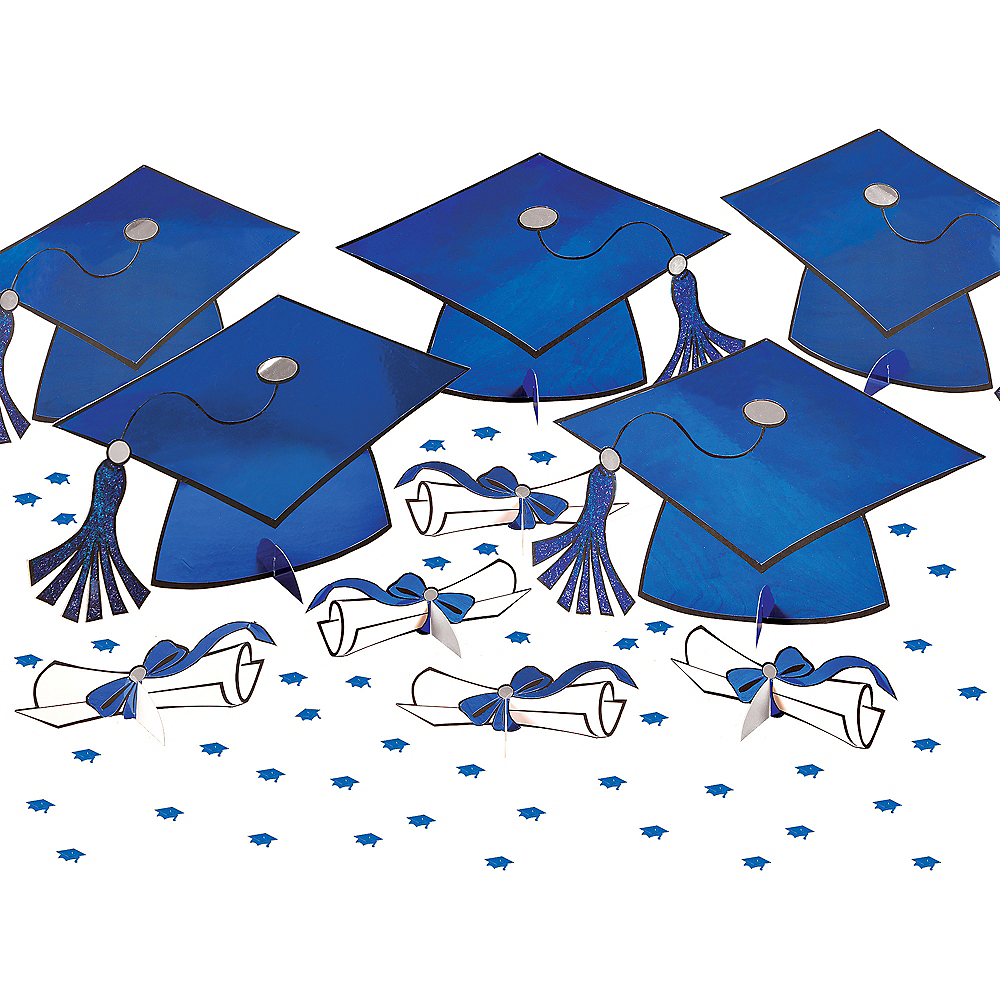 Blue Graduation Table Decorating Kit 11pc Image #1
