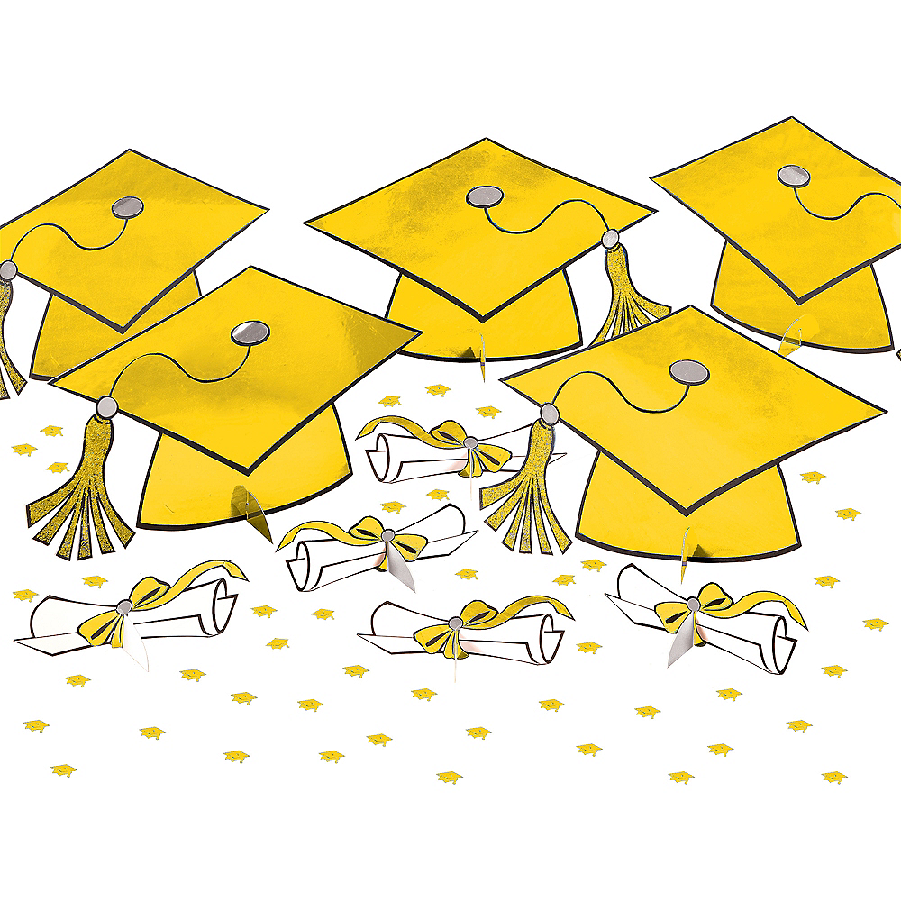 Yellow Graduation Table Decorating Kit 11pc Image #1