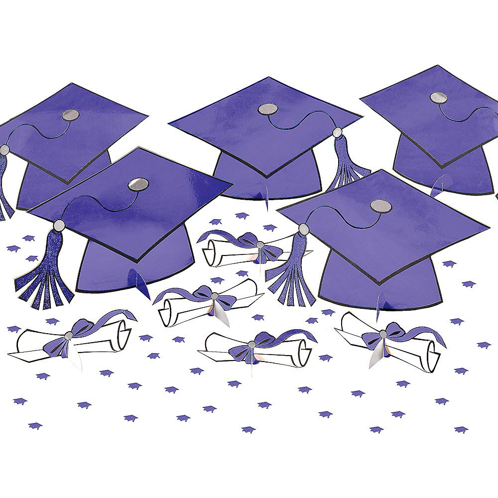 Purple Graduation Table Decorating Kit 11pc Image #1