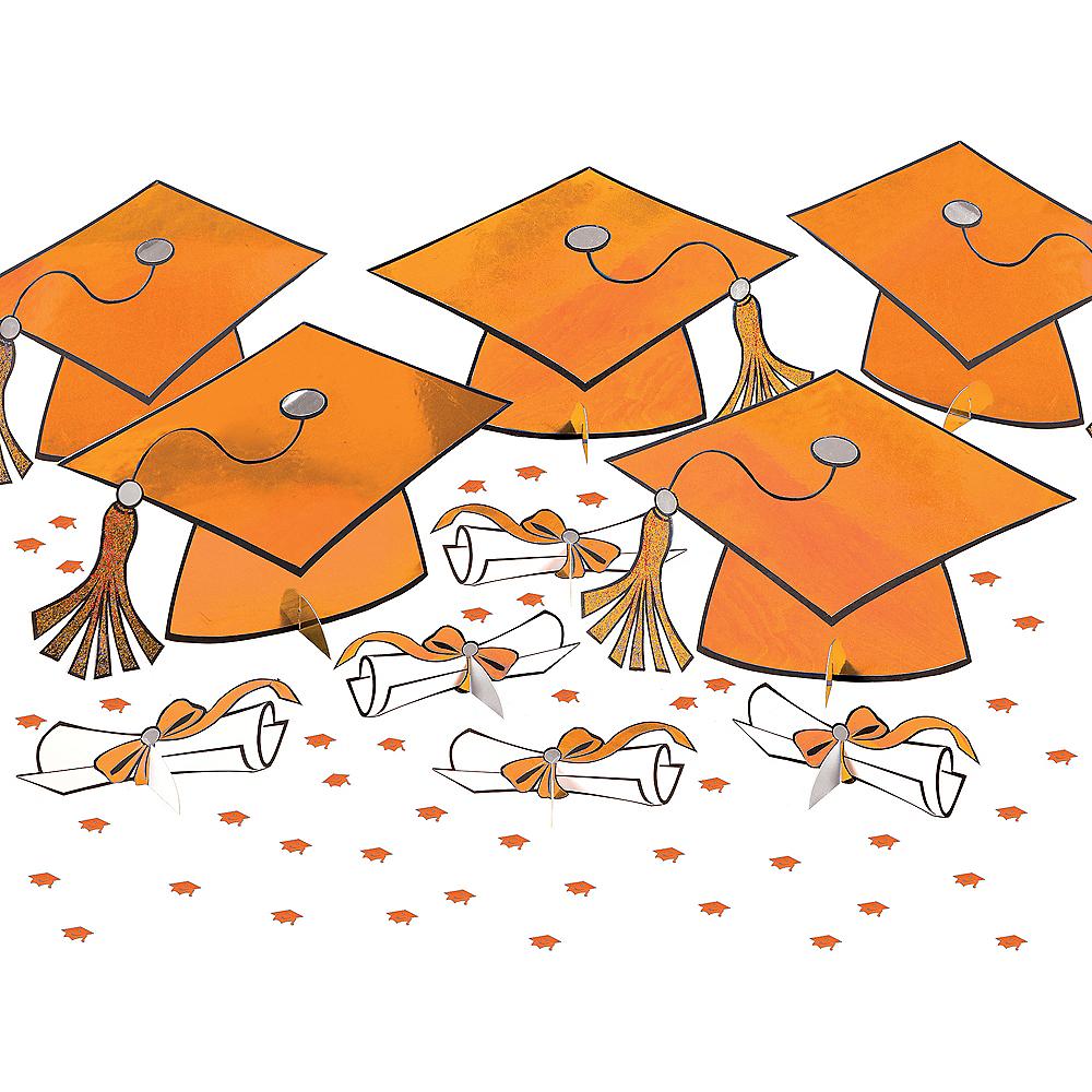 Orange Graduation Table Decorating Kit 11pc Image #1