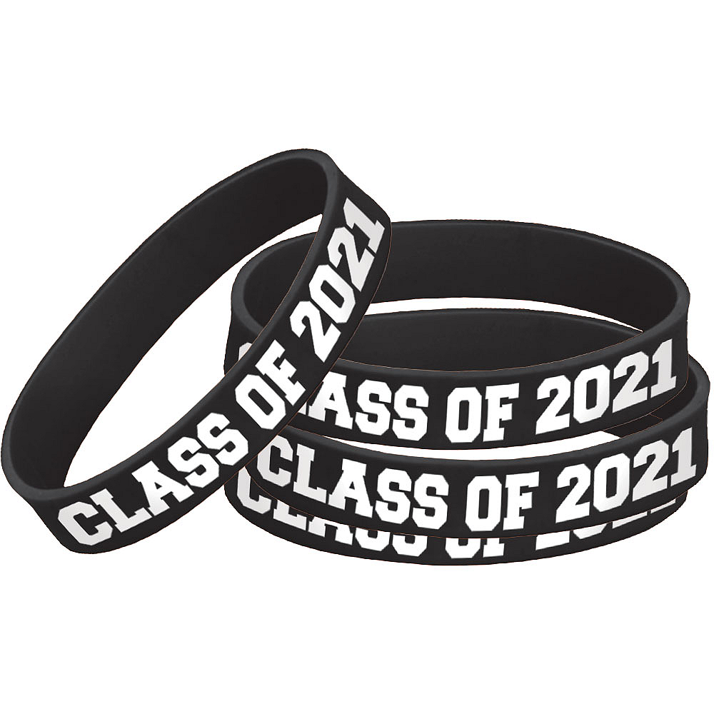 Nav Item for Black 2020 Graduation Wristband Image #1