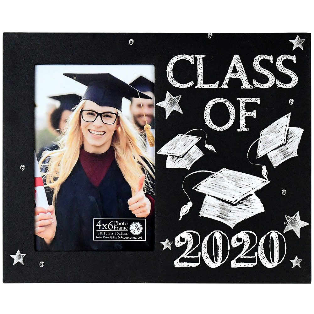 Party City Graduation Picture Frames: Chalkboard Class Of 2019 Graduation Photo Frame 9 1/4in X