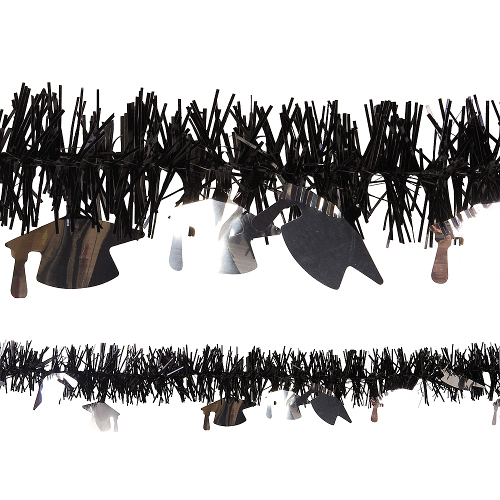 Black Graduation Tinsel Garland Image #1